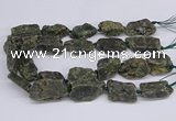 CNG3076 15.5 inches 20*30mm - 22*40mm nuggets green kyanite beads