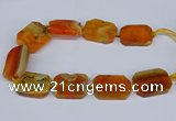 CNG3080 15.5 inches 30*40mm - 35*45mm freeform agate beads