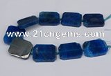 CNG3083 15.5 inches 30*40mm - 35*45mm freeform agate beads