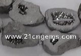 CNG3161 15.5 inches 13*18mm - 18*25mm freeform plated druzy agate beads