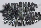 CNG3211 15.5 inches 10*25mm - 12*45mm faceted nuggets labradorite beads