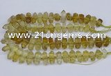 CNG3220 15.5 inches 10*20mm - 12*40mm faceted nuggets lemon quartz beads