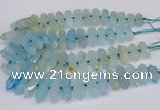 CNG3225 15.5 inches 10*25mm - 12*45mm faceted nuggets agate beads