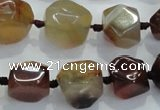 CNG330 15.5 inches 8*10mm - 15*18mm faceted nuggets agate beads