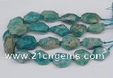 CNG3315 25*30mm - 30*45mm faceted freeform amazonite beads