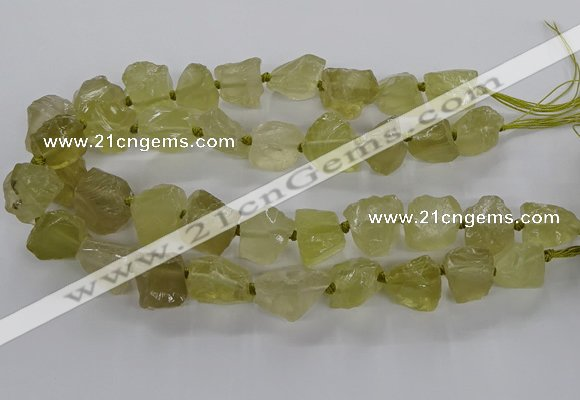 CNG3425 15.5 inches 15*20mm - 20*30mm nuggets lemon quartz beads