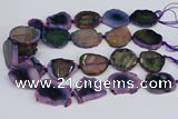 CNG3456 15.5 inches 20*30mm - 30*40mm freeform agate beads
