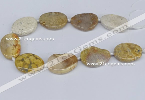CNG3481 25*35mm - 30*40mm freeform chrysanthemum agate beads