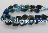 CNG3510 15.5 inches 15*20mm - 18*25mm faceted nuggets agate beads