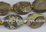 CNG3528 15.5 inches 13*18mm - 15*20mm faceted nuggets devil jasper beads