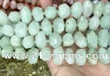 CNG3608 15.5 inches 13*20mm - 15*24mm faceted nuggets light prehnite beads