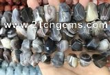 CNG3614 13*20mm - 15*24mm faceted nuggets Botswana agate beads