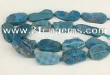 CNG3622 20*35mm - 30*45mm freeform plated druzy agate beads