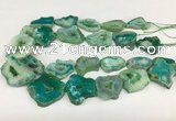 CNG3642 15.5 inches 22*30mm - 30*40mm freeform druzy agate beads