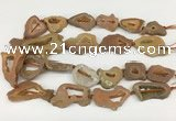 CNG3647 15.5 inches 22*30mm - 30*40mm freeform plated druzy agate beads