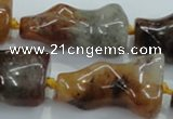 CNG425 15.5 inches 20*30mm - 20*45mm nuggets colorfull-phantom beads