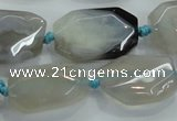 CNG467 15.5 inches 15*20mm - 20*35mm nuggets agate beads