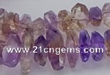 CNG5026 15.5 inches 7*12mm - 10*18mm faceted nuggets ametrine beads