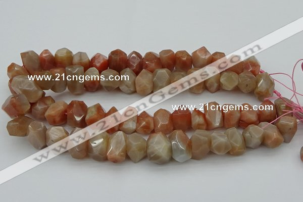 CNG5059 15.5 inches 13*18mm - 15*20mm faceted nuggets sunstone beads