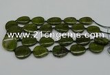 CNG5167 15.5 inches 16*22mm - 30*35mm freeform green gemstone beads