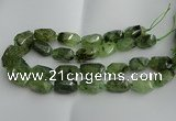 CNG5203 13*18mm - 15*25mm faceted nuggets green rutilated quartz beads