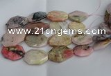 CNG5207 15.5 inches 20*30mm - 25*45mm freeform pink opal gemstone beads