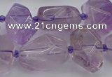 CNG5234 15.5 inches 13*18mm - 18*25mm faceted nuggets amethyst beads