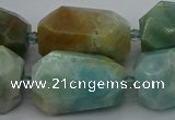 CNG5341 15.5 inches 13*18mm - 18*30mm faceted nuggets amazonite beads