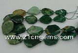 CNG5354 15.5 inches 20*30mm - 35*45mm faceted freeform African jade beads