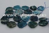 CNG5355 15.5 inches 20*30mm - 35*45mm faceted freeform apatite beads