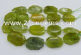 CNG5358 15.5 inches 20*30mm - 35*45mm faceted freeform lemon jade beads