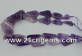 CNG5435 15*25mm - 30*45mm freeform amethyst gemstone beads