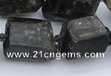 CNG5555 15.5 inches 18*20mm - 20*28mm nuggets black tourmaline beads
