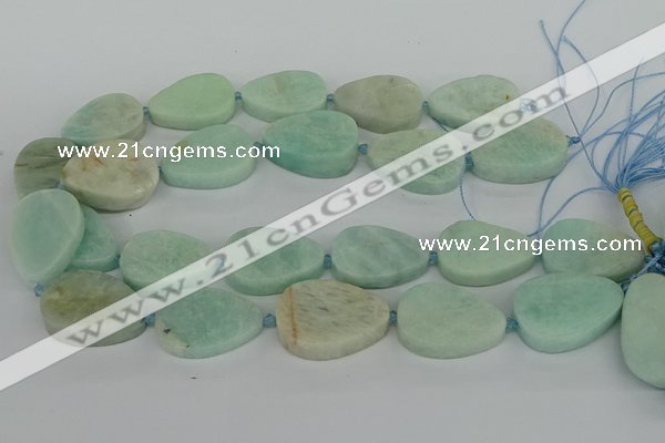 CNG5702 15.5 inches 22*30mm - 28*35mm freeform amazonite beads
