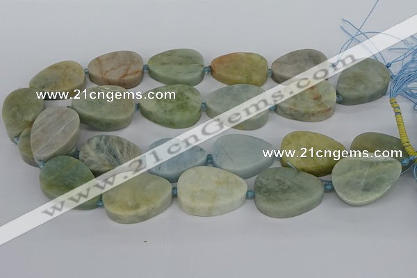 CNG5704 15.5 inches 22*30mm - 28*35mm freeform aquamarine beads