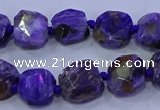 CNG5711 15.5 inches 10*14mm - 12*15mm faceted freeform charoite beads