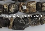 CNG577 5*10mm – 11*15mm nuggets black tourmaline gemstone beads