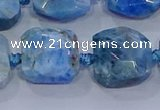 CNG5786 15.5 inches 10*12mm - 10*14mm faceted freeform apatite beads