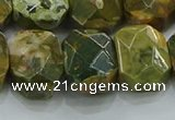 CNG5876 15.5 inches 8*12mm - 12*16mm faceted freeform rhyolite beads