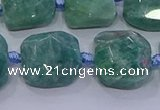 CNG5889 15.5 inches 10*12mm - 10*14mm faceted freeform amazonite beads