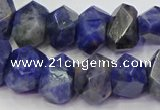 CNG5928 15.5 inches 10*14mm - 13*18mm faceted nuggets sodalite beads