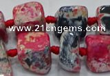 CNG6004 15.5 inches 12*16mm - 15*18mm nuggets agate beads