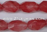 CNG608 12*20mm – 14*24mm faceted nuggets cherry quartz beads