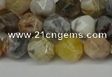 CNG6082 15.5 inches 8mm faceted nuggets grey agate beads