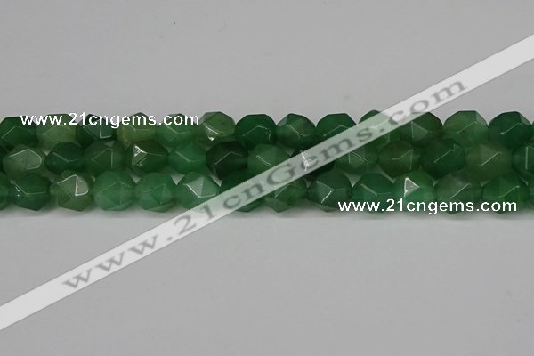 CNG6176 15.5 inches 10mm faceted nuggets green aventurine beads