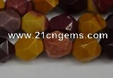 CNG6182 15.5 inches 10mm faceted nuggets mookaite gemstone beads