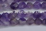 CNG6230 15.5 inches 6mm faceted nuggets amethyst beads