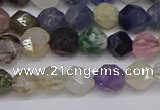 CNG6265 15.5 inches 6mm faceted nuggets mixed gemstone beads