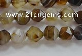 CNG6516 15.5 inches 6mm faceted nuggets line agate beads