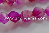 CNG6522 15.5 inches 10mm faceted nuggets line agate beads